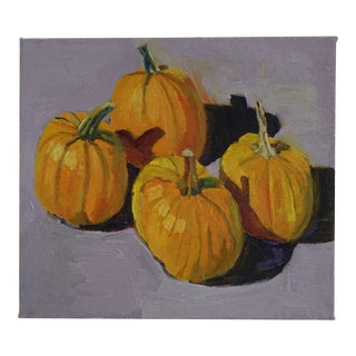 Autumnal Pumpkin Harvest Impressionist Painting For Sale