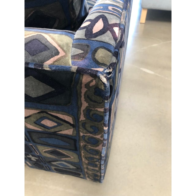 Blue 1970s Vintage Milo Baughman Sofa For Sale - Image 8 of 11