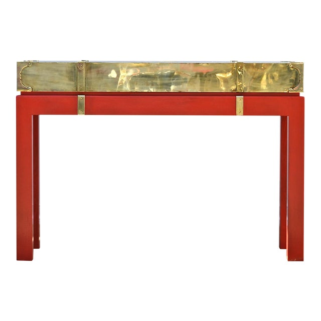 Brass Campaign Style Console - Image 1 of 11