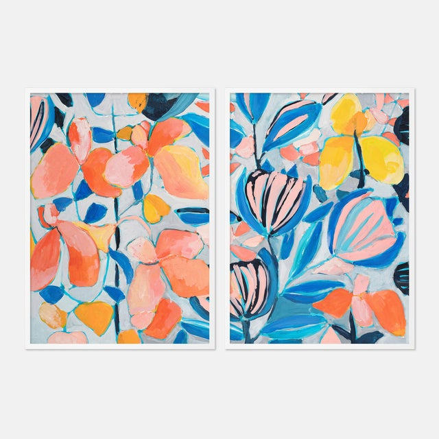 Contemporary St Barth's 1 Diptych by Lulu DK in White Framed Paper, Small Art Print - A Pair For Sale - Image 3 of 3