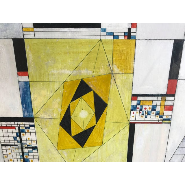 Paint James McCray, 1945 Abstract Geometric San Francisco Museum of Art Exhibition Tag For Sale - Image 7 of 11