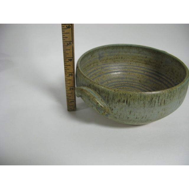 1970s Mid Century Modern Studio Pottery Bowl For Sale - Image 9 of 13