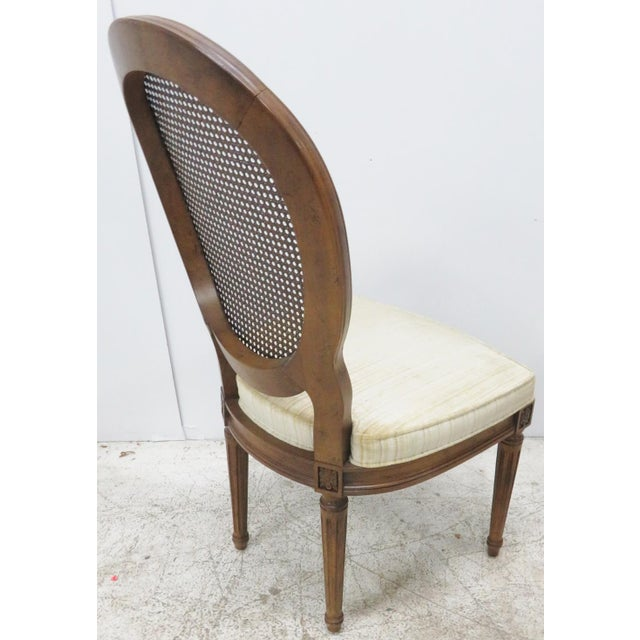 Louis XVI Style Caned Back Dining Chairs - Set of 6 - Image 3 of 8