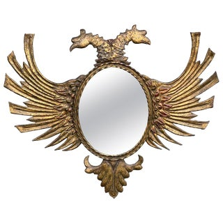 Russian Gilt Tole Double Eagle Mirror For Sale
