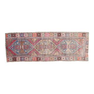 "Vintage Distressed Oushak Rug Runner - 2'9"" X 7'10"""