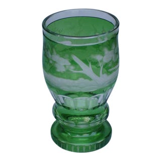 Bohemian Cut Glass Beaker, late 19th C. For Sale