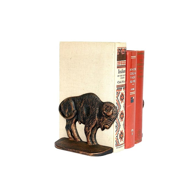 Vintage Bison Buffalo Bookends - a Pair For Sale - Image 10 of 11
