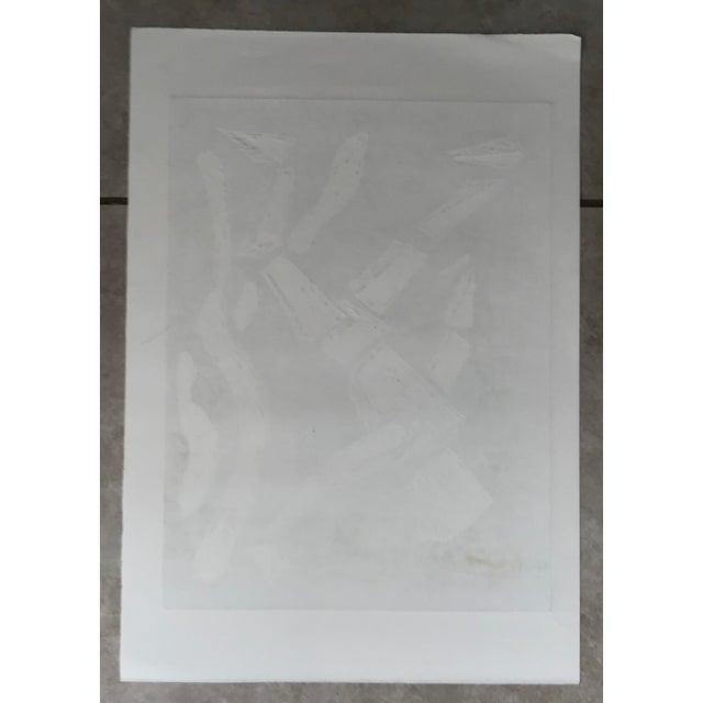 Paper Pablo Pino Hombre Povera Linocut Print For Sale - Image 7 of 8