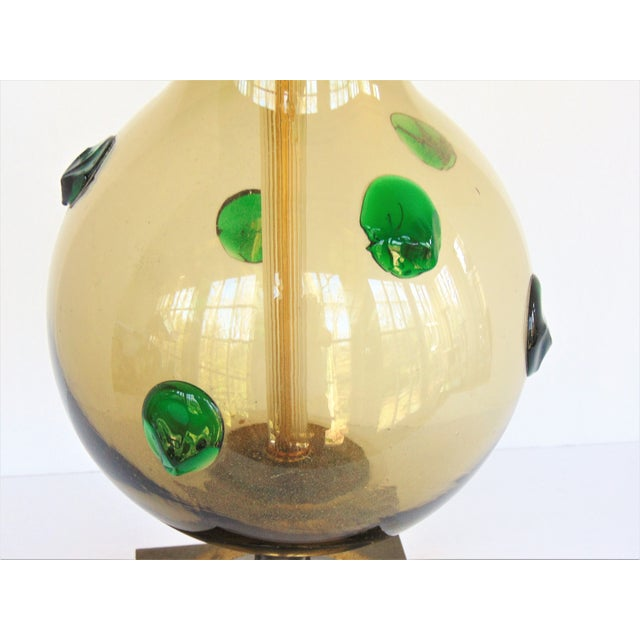 Mid-Century Modern Italian Glass Lamp - Image 4 of 5
