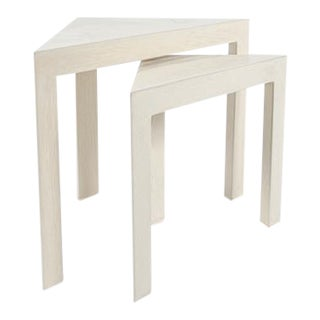 Corner Nesting Tables - A Pair For Sale