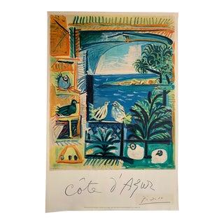 1962 Picasso Cote d'Azur Mourlot Lithograph Poster For Sale