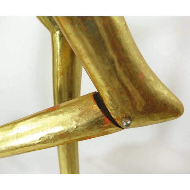 Mid-Century Gold Gilt Wooden Flamigo - Image 9 of 11
