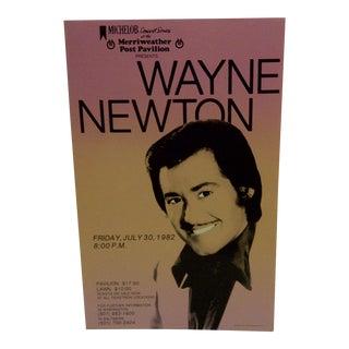 1982 Vintage Concert Poster for Wayne Newton For Sale