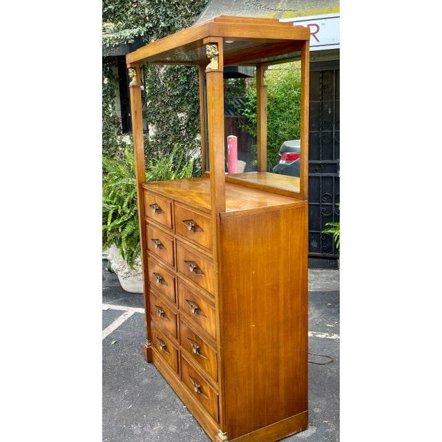1950s Grosfeld House Hollywood Regency Empire Coattail Bar or Dressing Chest of Drawers For Sale - Image 5 of 6