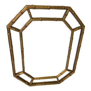 1970s Chinoiserie Gold Bamboo Mirror For Sale