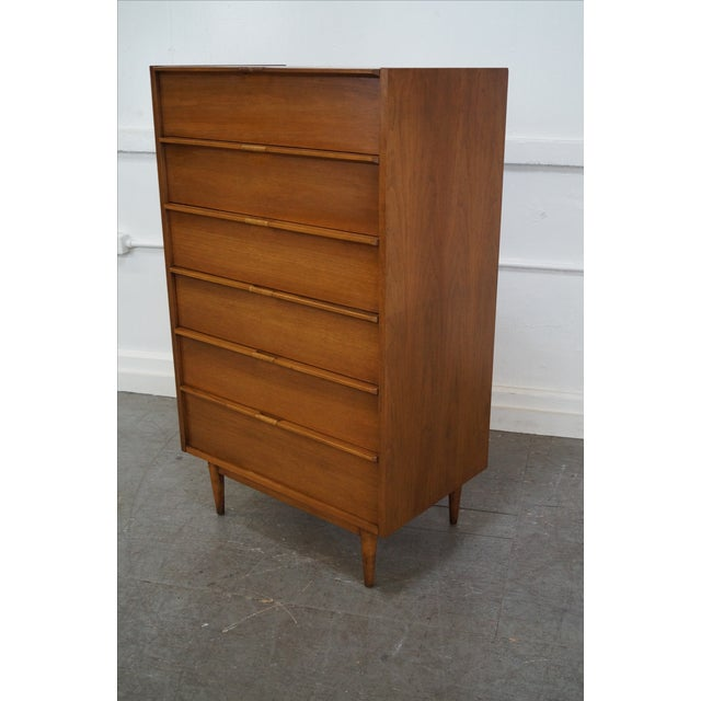Mid-Century Danish Influenced Walnut Tall Chest - Image 5 of 10