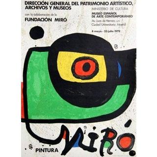 (after) Joan Miró Miro Pintura, 1978 Ministerio de Cultura of Madrid Exhibition Poster 1978 For Sale