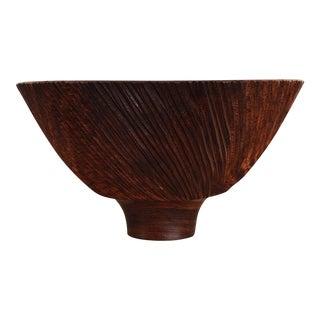 Vintage Hand Carved Cocobolo Wood Bowl | Al Stirt