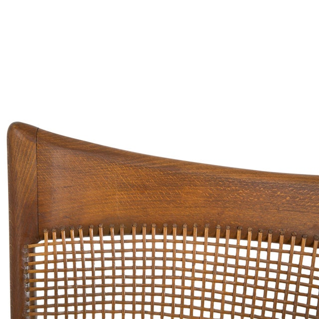 Jens Risom Style Woven Back Chairs - Pair - Image 4 of 9