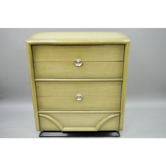 Vintage Tri-Bond Mid Century Modern Bone Dresser Chest Art Deco Gilbert Rohde Era For Sale In Philadelphia - Image 6 of 11