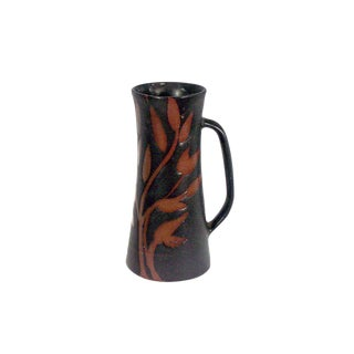 1970s Vintage Andersen Design Stein With Red Leaf Pattern by Brenda Andersen For Sale