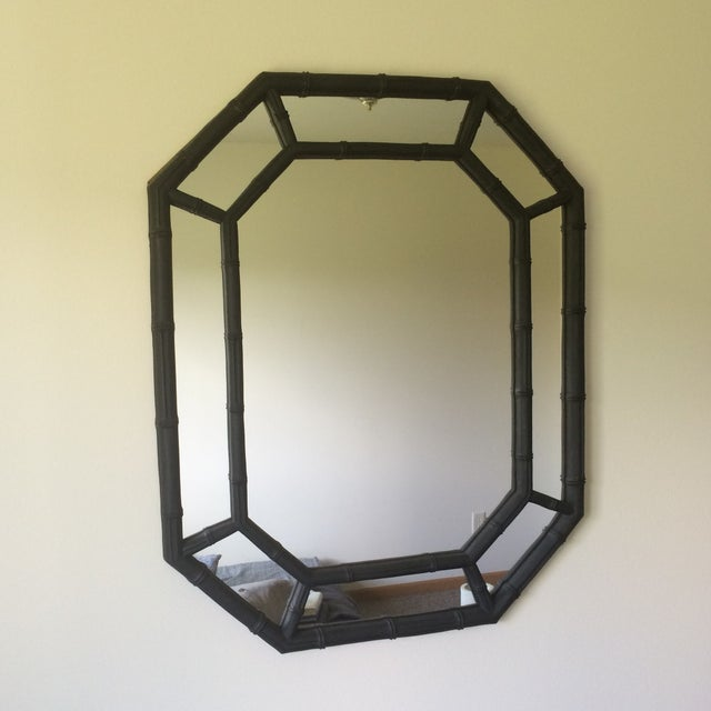 Hollywood Regency Faux Bamboo Mirror - Image 3 of 4