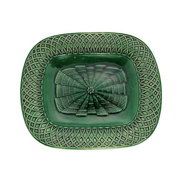 Eight piece Mintons majolica serving set. Includes six plates, an oval platter, and rectangular platter. Very good...