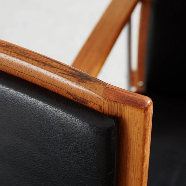 Set of Four Finnish Rosewood Armchairs For Sale - Image 4 of 8