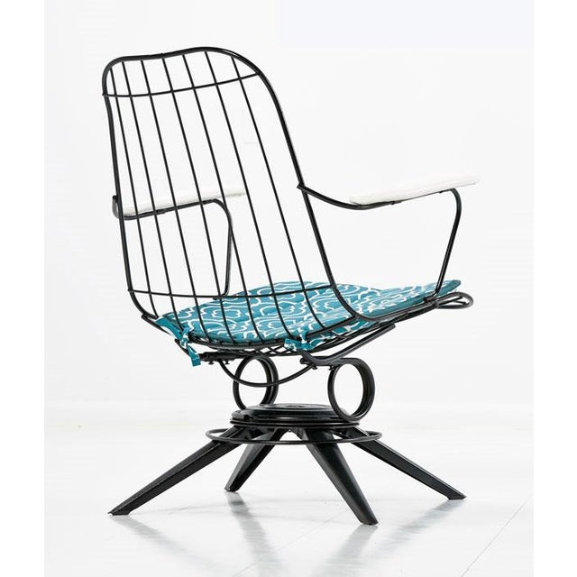 The price listed is for a set of two chairs as pictured. Pair of restored mid-century modern patio chairs. Each chair is...
