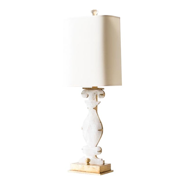 Mid Century Modern Sarah Gilded Metal Base Table Lamp Chairish