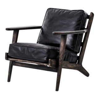 Baxter Black Lounge Chair For Sale
