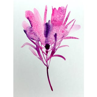"Original ""Northwest Pink One"" Botanical Art Watercolor Painting"