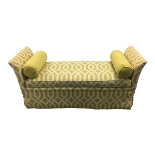 Modern Custom Kravet Furniture Upholstered Bench For Sale