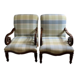 Custom Made Designer Chairs - a Pair For Sale
