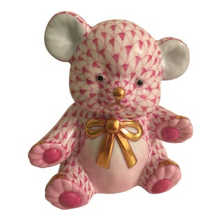 Herend Teddy Bear in Raspberry For Sale