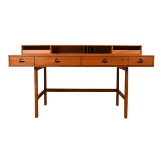 Lovig 'Flip-Top' Danish Modern Teak Partner's Desk For Sale