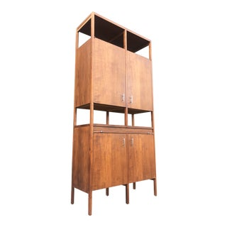 1960s Mid Century Modern Paul McCobb for Lane Delineator Bar-Tall Cabinet For Sale