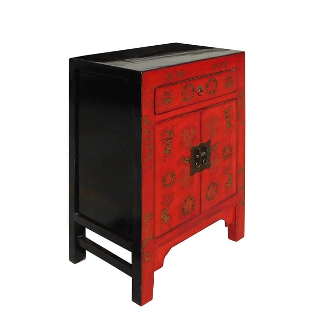 Chinese Side Table Cabinet - Image 2 of 6