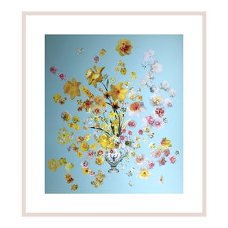 "Marcy Cook ""Vase of Daffodils"" Original Fine Art Collage For Sale"