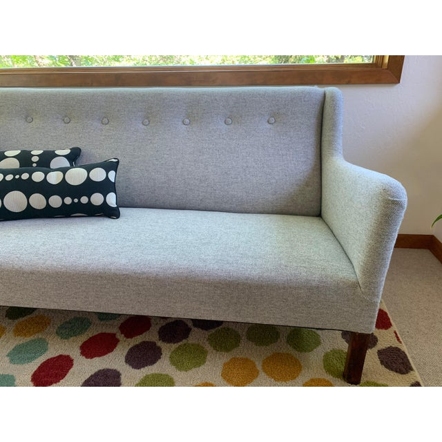 1960s Grey Upholstered Sofa For Sale In Seattle - Image 6 of 9