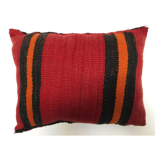African Moroccan Berber Handwoven Tribal Throw Pillow Made From a Vintage Rug For Sale - Image 3 of 6