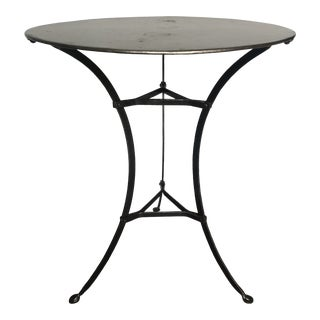 Antique Metal French Bistro Table For Sale