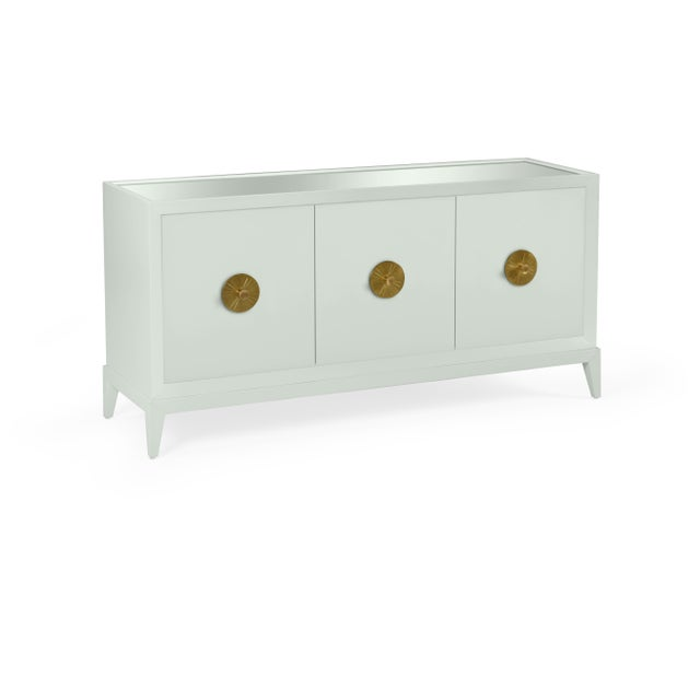 Transitional Casa Cosima Hayes Sideboard, Gray Cashmere For Sale - Image 3 of 3