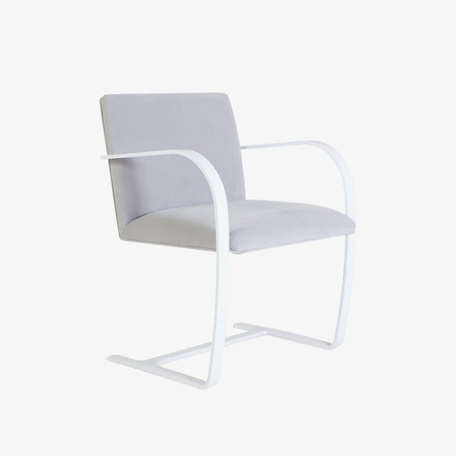 Brno Flat-Bar Chairs in Dove Velvet, Lunar Gloss Frame For Sale - Image 10 of 10