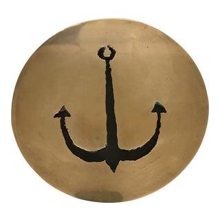Brass Anchor Cutout Trivet For Sale