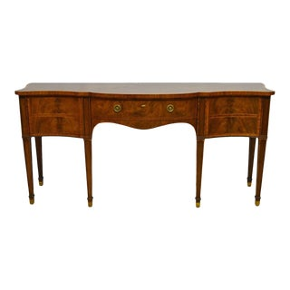 Baker Furniture Stately Homes Collection Mahogany Inlaid Sideboard For Sale