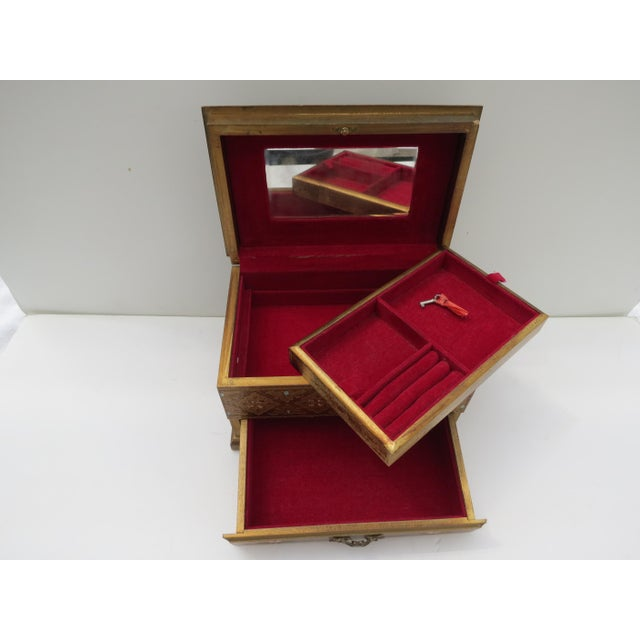Florentine Gold Jewelry Box - Image 4 of 8