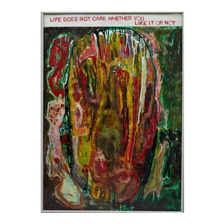 "Wyona Diskin ""Life Does Not Care Whether You Like It or Not"" Painting For Sale"