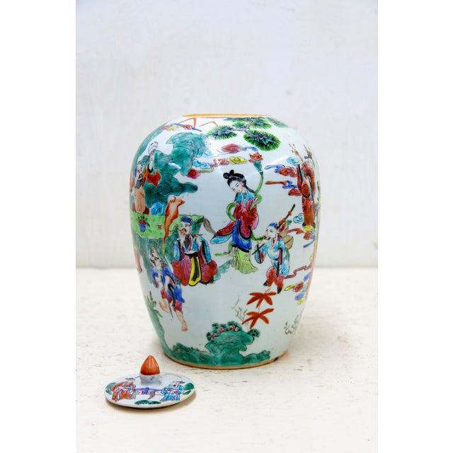 Antique Chinese Ceramic Melon Jar - Image 3 of 7