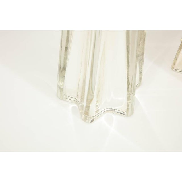 """Transparent Mercury Glass Star """"Etoile"""" Lamps - A Pair For Sale - Image 8 of 9"""